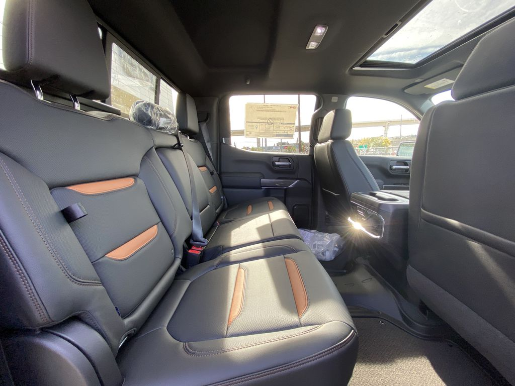 Gray[Satin Steel Metallic] 2021 GMC Sierra 1500 AT4 Right Side Rear Seat  Photo in Calgary AB