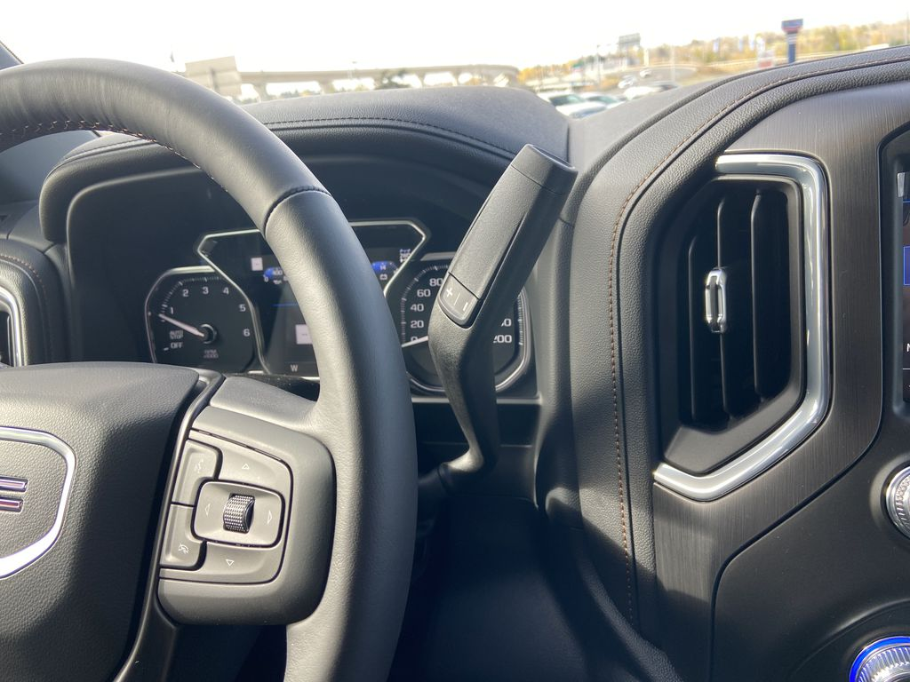 Gray[Satin Steel Metallic] 2021 GMC Sierra 1500 AT4 Center Console Photo in Calgary AB