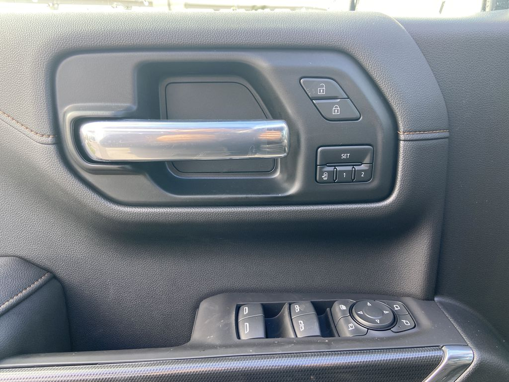 Gray[Satin Steel Metallic] 2021 GMC Sierra 1500 AT4  Driver's Side Door Controls Photo in Calgary AB