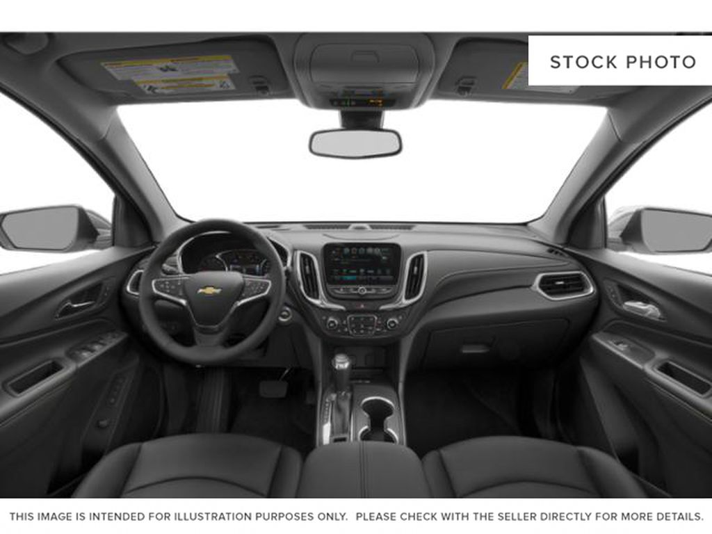 White[Iridescent Pearl Tricoat] 2020 Chevrolet Equinox Premier Central Dash Options Photo in Calgary AB