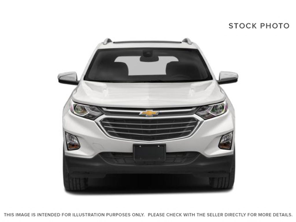 White[Iridescent Pearl Tricoat] 2020 Chevrolet Equinox Premier Front Vehicle Photo in Calgary AB