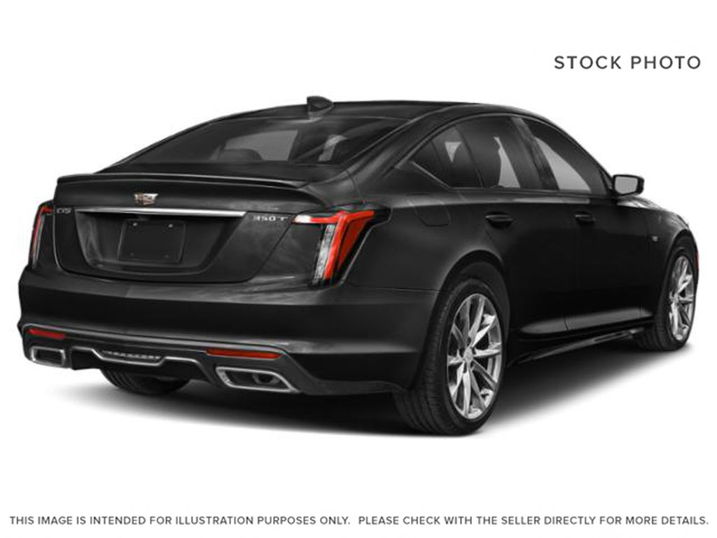 Black[Black Raven] 2020 Cadillac CT5 Right Rear Corner Photo in Edmonton AB