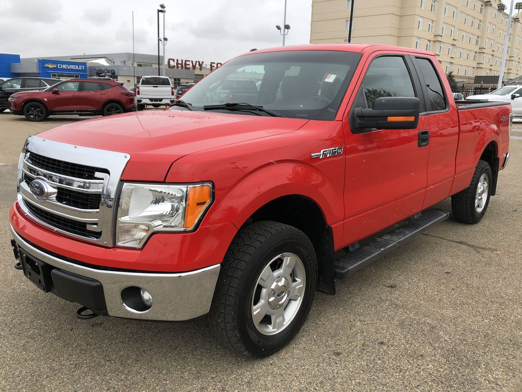 Red[Race Red] 2014 Ford F-150 Left Front Corner Photo in Edmonton AB