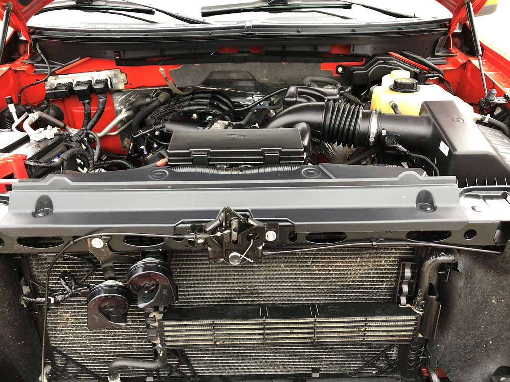 Red[Race Red] 2014 Ford F-150 Engine Compartment Photo in Edmonton AB