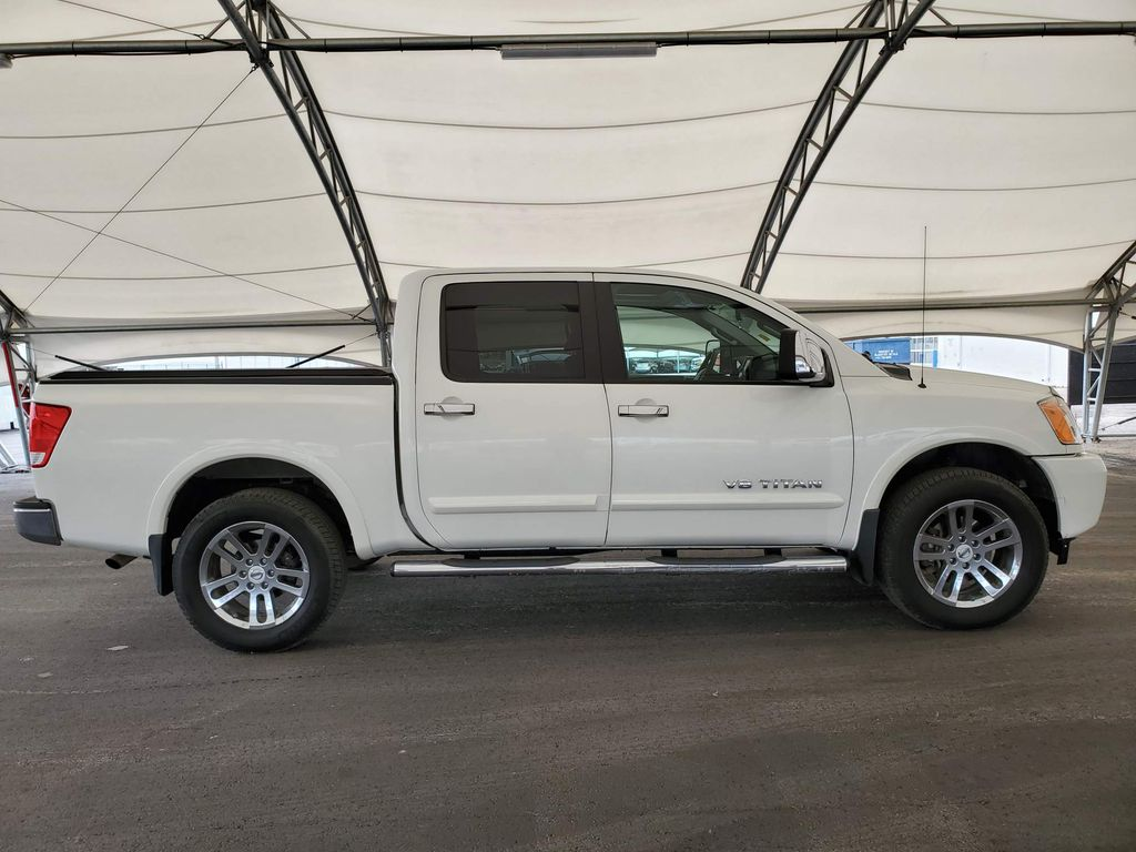 White 2014 Nissan Titan Right Side Front Seat  Photo in Airdrie AB