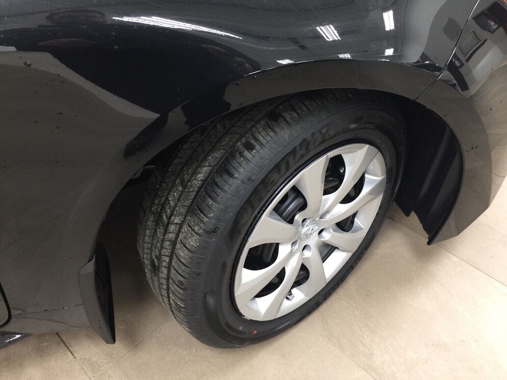 Black[Black Sand Pearl] 2020 Toyota Corolla LE Right Front Rim and Tire Photo in Sherwood Park AB