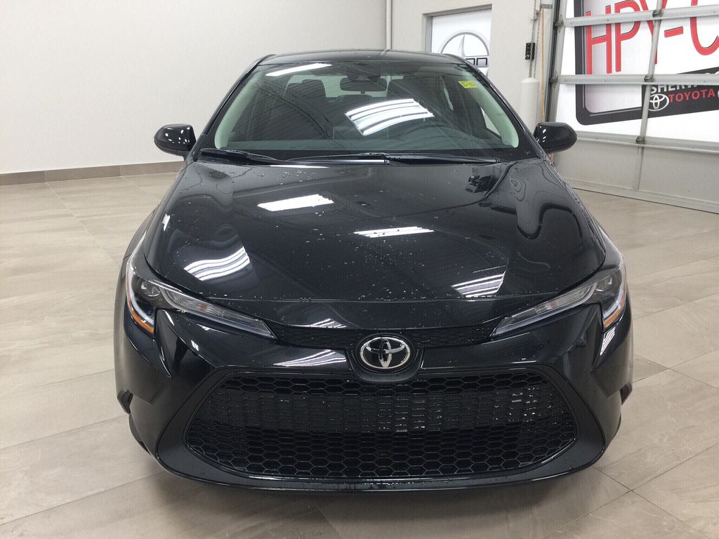 Black[Black Sand Pearl] 2020 Toyota Corolla LE Front Vehicle Photo in Sherwood Park AB