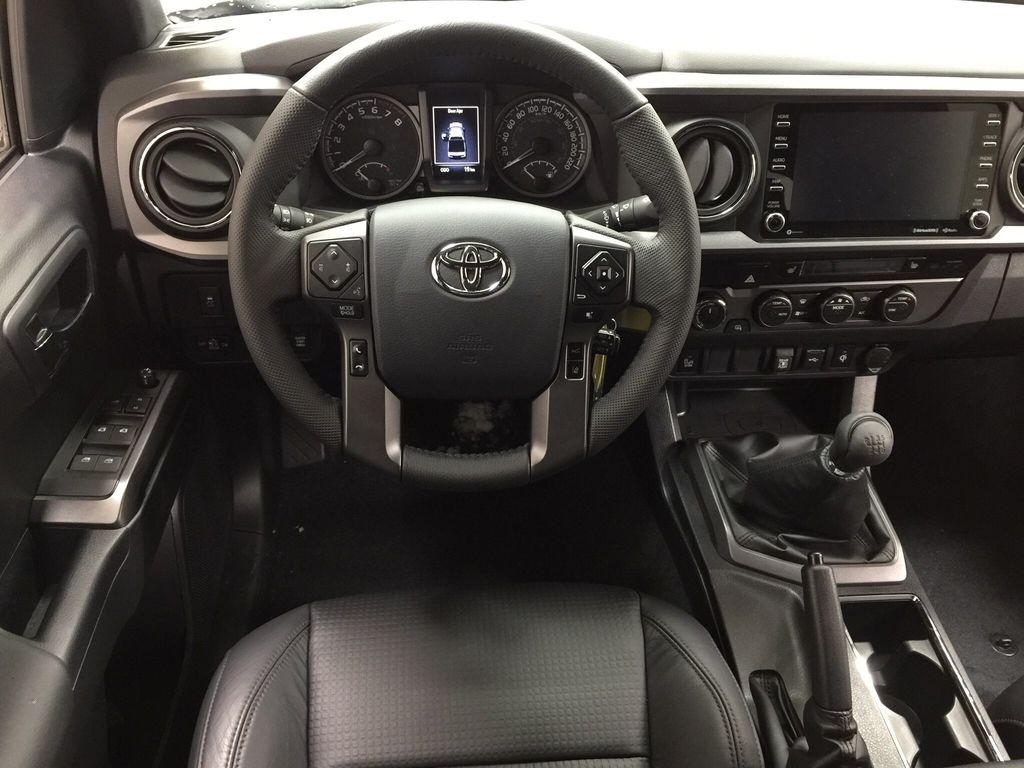 White[Super White] 2020 Toyota Tacoma TRD Sport Left Front Seat Photo in Sherwood Park AB