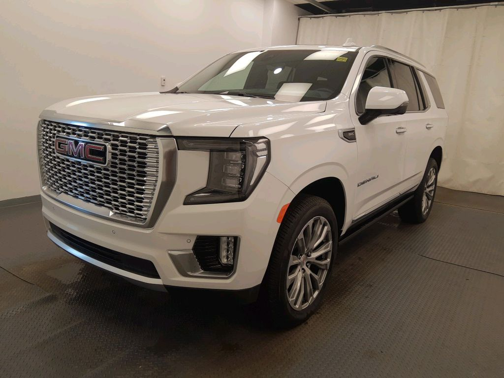 White 2021 GMC Yukon Left Front Head Light / Bumper and Grill in Lethbridge AB