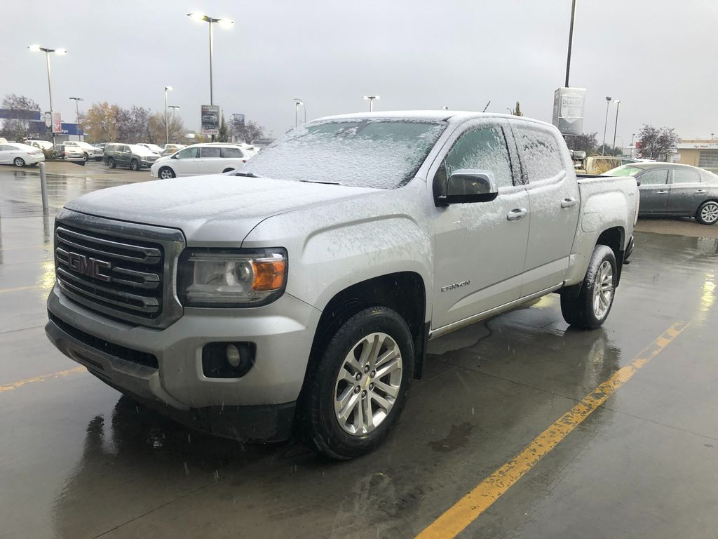 Silver 2017 GMC Canyon Left Front Corner Photo in Lethbridge AB