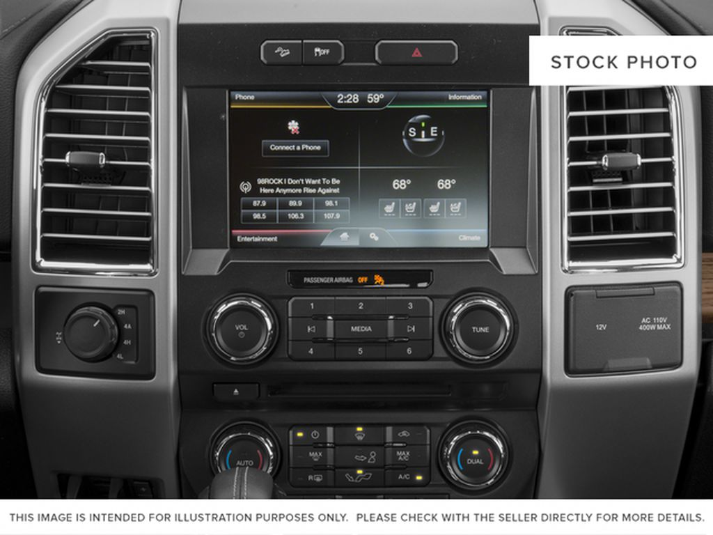 White[Oxford White] 2016 Ford F-150 Radio Controls Closeup Photo in Fort Macleod AB