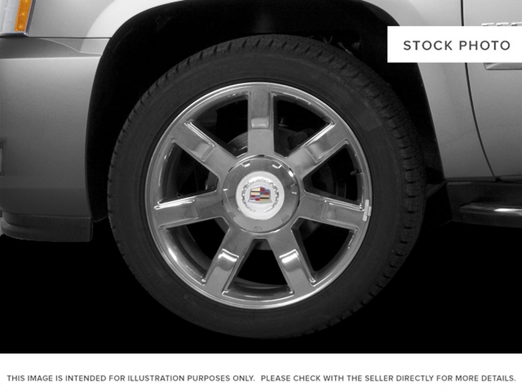 Black[Black Ice Metallic] 2011 Cadillac Escalade Left Front Rim and Tire Photo in Fort Macleod AB