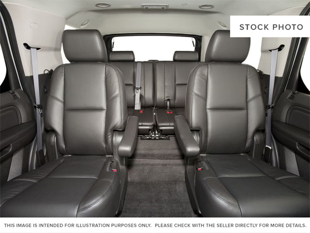 Black[Black Ice Metallic] 2011 Cadillac Escalade Left Side Rear Seat  Photo in Fort Macleod AB