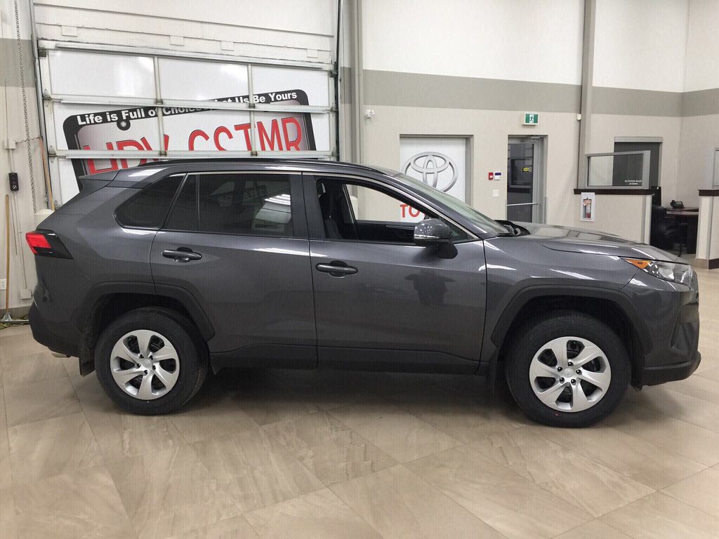 Gray[Magnetic Grey Metallic] 2021 Toyota RAV4 LE AWD Right Side Photo in Sherwood Park AB