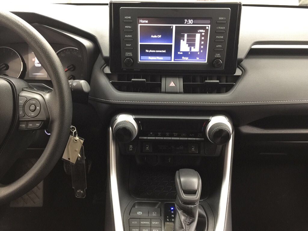 Gray[Magnetic Grey Metallic] 2021 Toyota RAV4 LE AWD Central Dash Options Photo in Sherwood Park AB