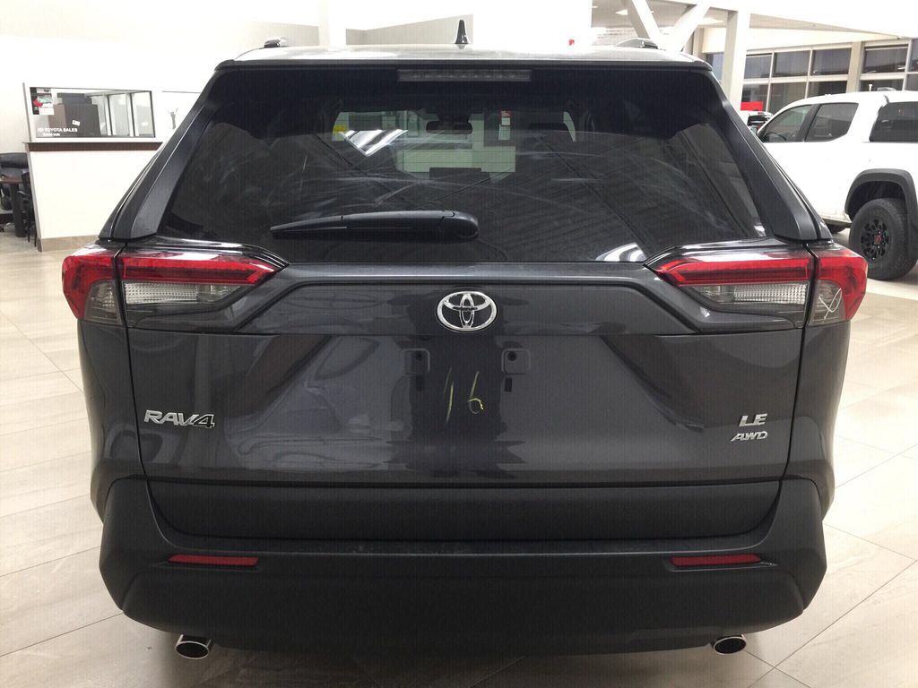 Gray[Magnetic Grey Metallic] 2021 Toyota RAV4 LE AWD Rear of Vehicle Photo in Sherwood Park AB