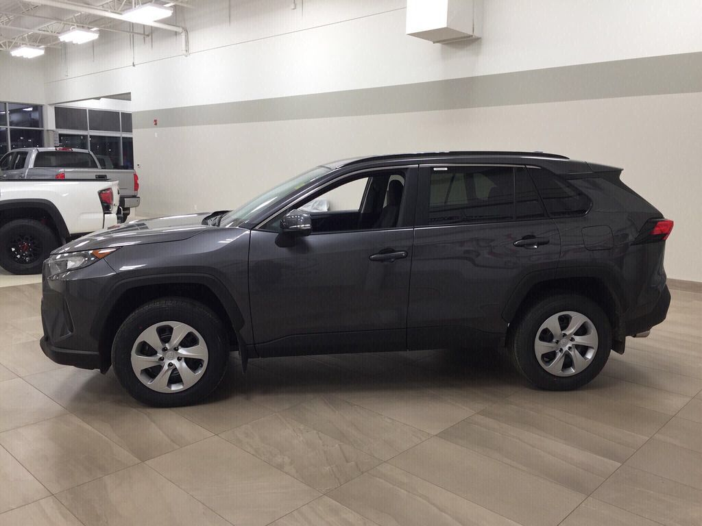 Gray[Magnetic Grey Metallic] 2021 Toyota RAV4 LE AWD Left Side Photo in Sherwood Park AB