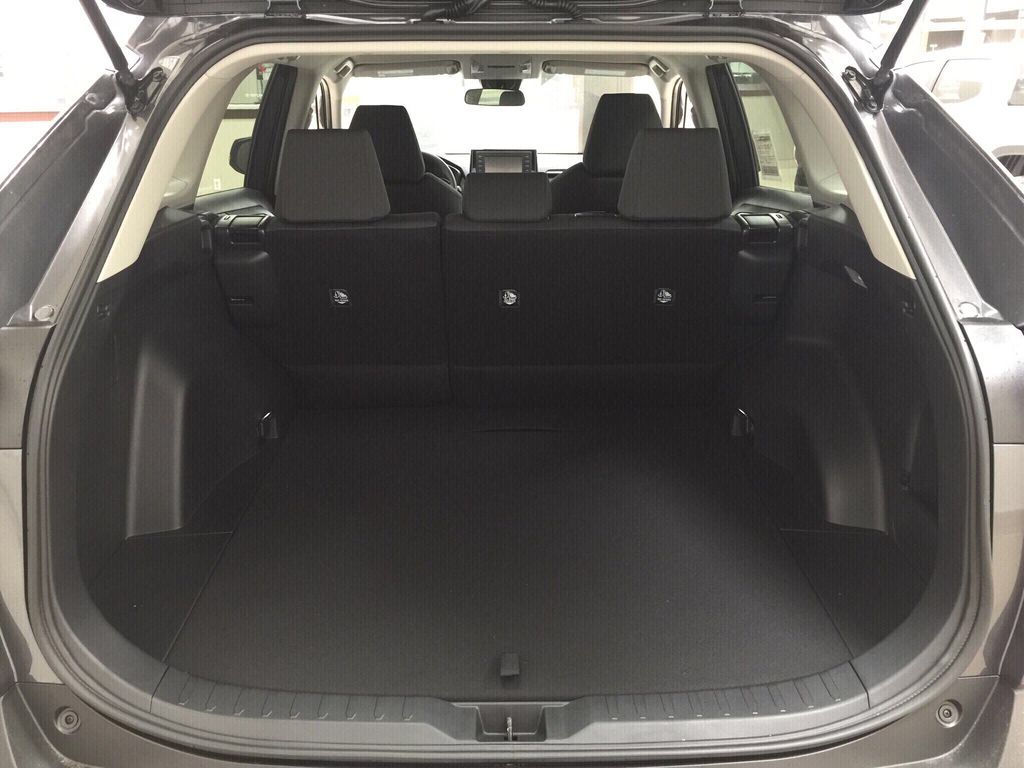 Gray[Magnetic Grey Metallic] 2021 Toyota RAV4 LE AWD Cargo Area/Rear Seats Photo in Sherwood Park AB