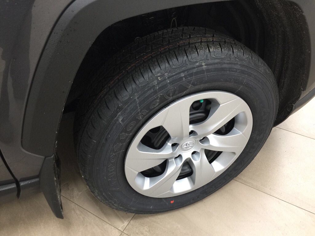 Gray[Magnetic Grey Metallic] 2021 Toyota RAV4 LE AWD Right Front Rim and Tire Photo in Sherwood Park AB