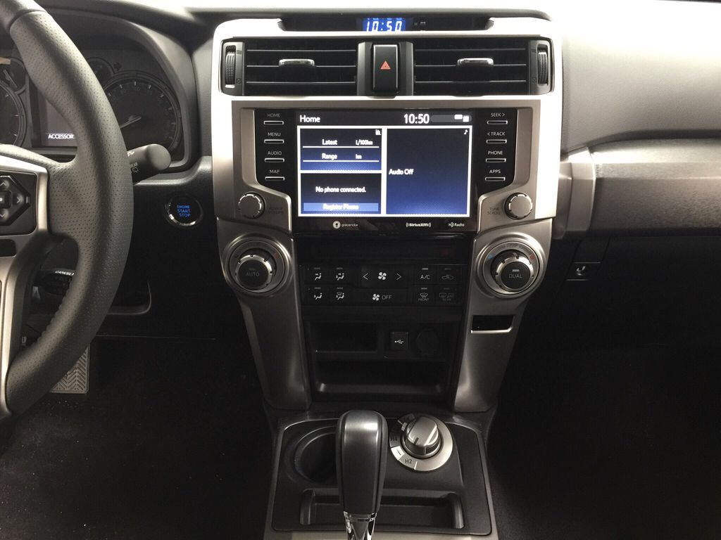 Gray[Magnetic Grey Metallic] 2021 Toyota 4Runner SR5 Central Dash Options Photo in Sherwood Park AB