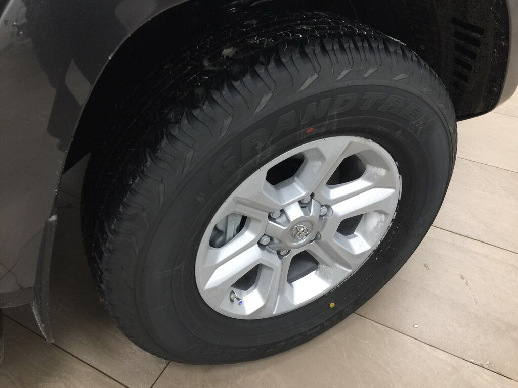 Gray[Magnetic Grey Metallic] 2021 Toyota 4Runner SR5 Right Front Rim and Tire Photo in Sherwood Park AB
