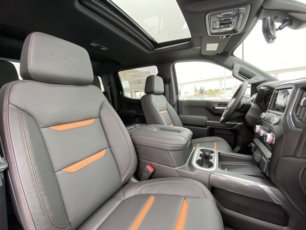 Gray[Satin Steel Metallic] 2021 GMC Sierra 1500 AT4 Right Side Front Seat  Photo in Calgary AB