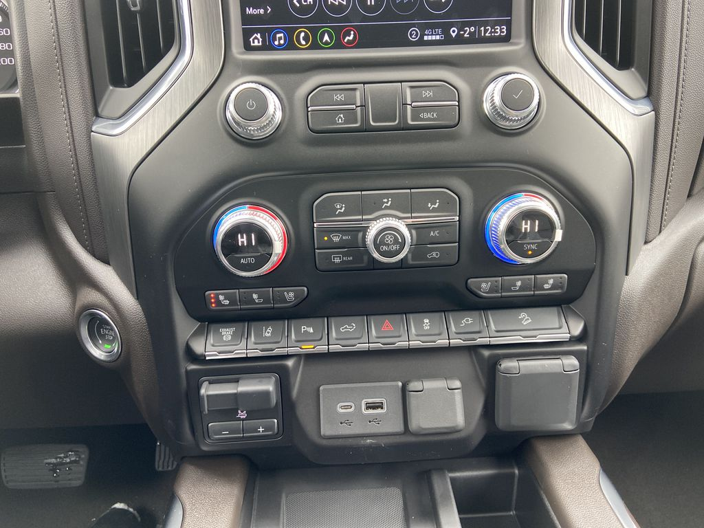 White[White Frost Tricoat] 2020 GMC Sierra 3500HD Denali Central Dash Options Photo in Calgary AB