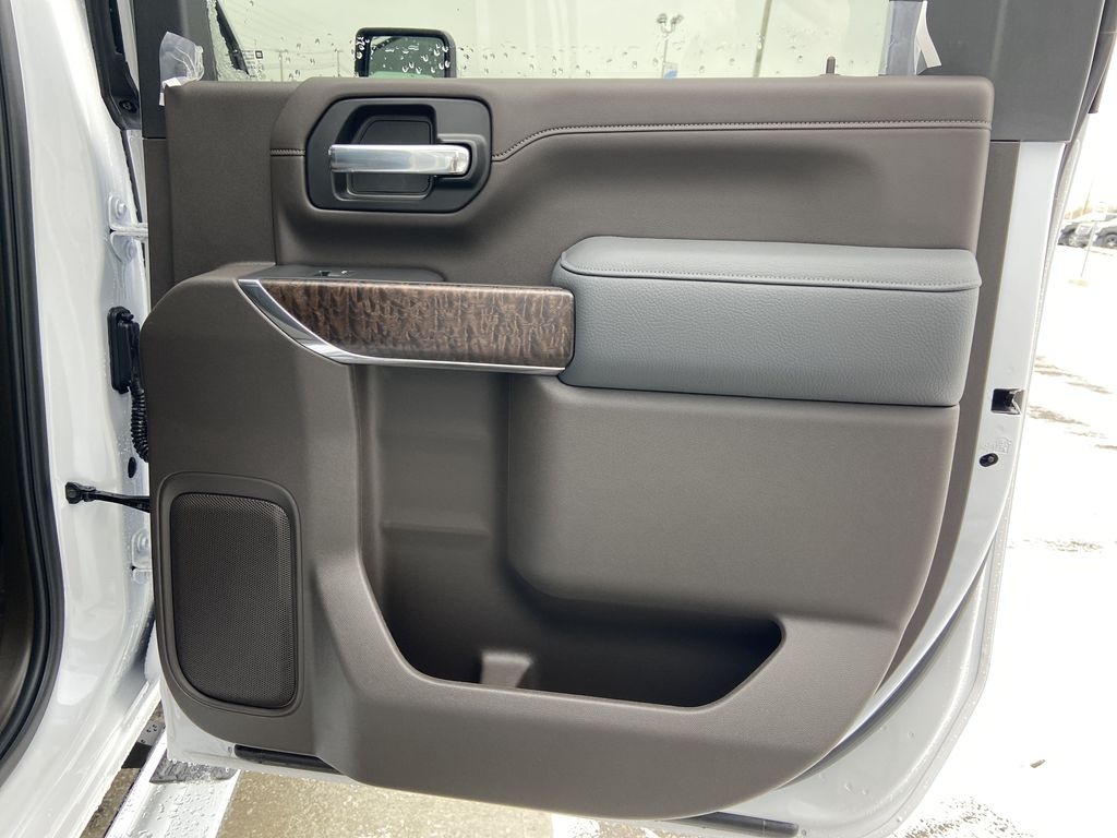 White[White Frost Tricoat] 2020 GMC Sierra 3500HD Denali Right Rear Interior Door Panel Photo in Calgary AB