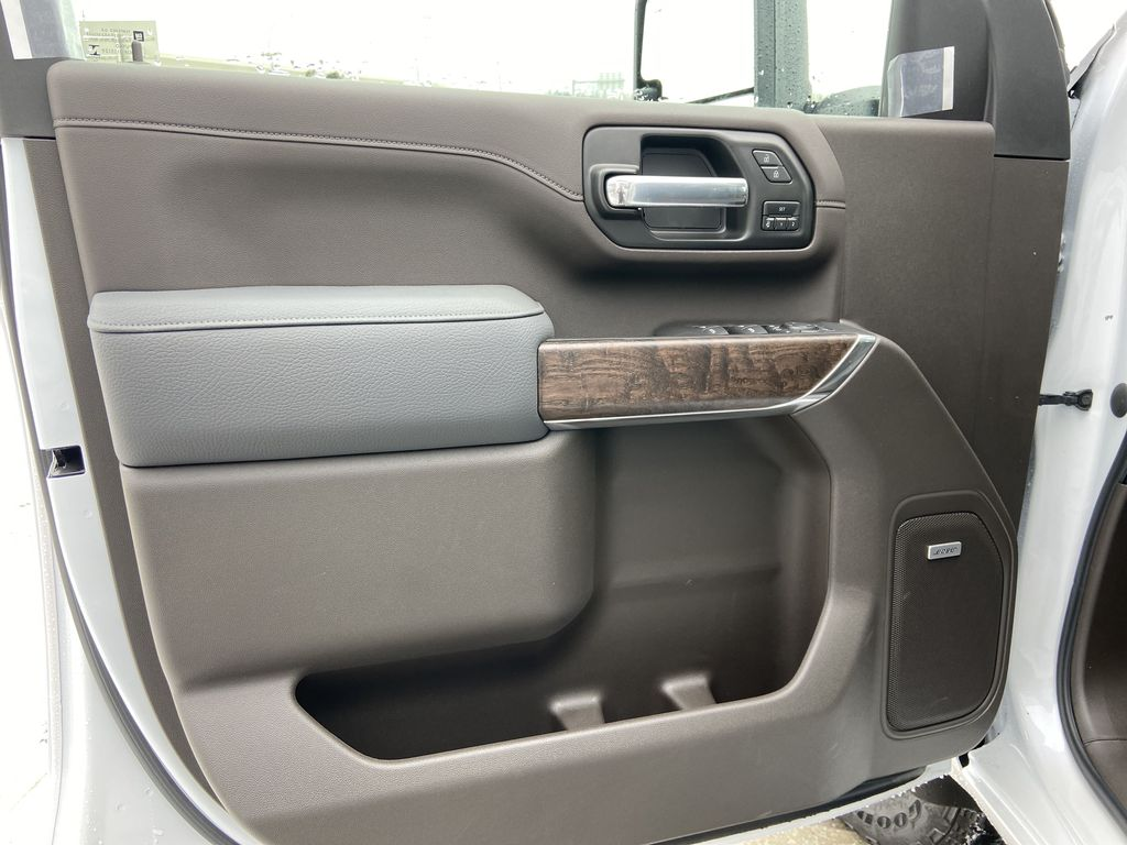 White[White Frost Tricoat] 2020 GMC Sierra 3500HD Denali Left Front Interior Door Panel Photo in Calgary AB