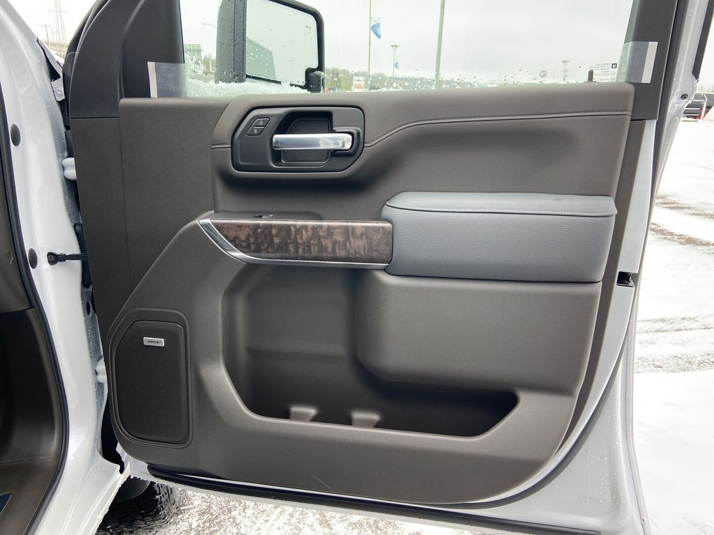 White[White Frost Tricoat] 2020 GMC Sierra 3500HD Denali Right Front Interior Door Panel Photo in Calgary AB