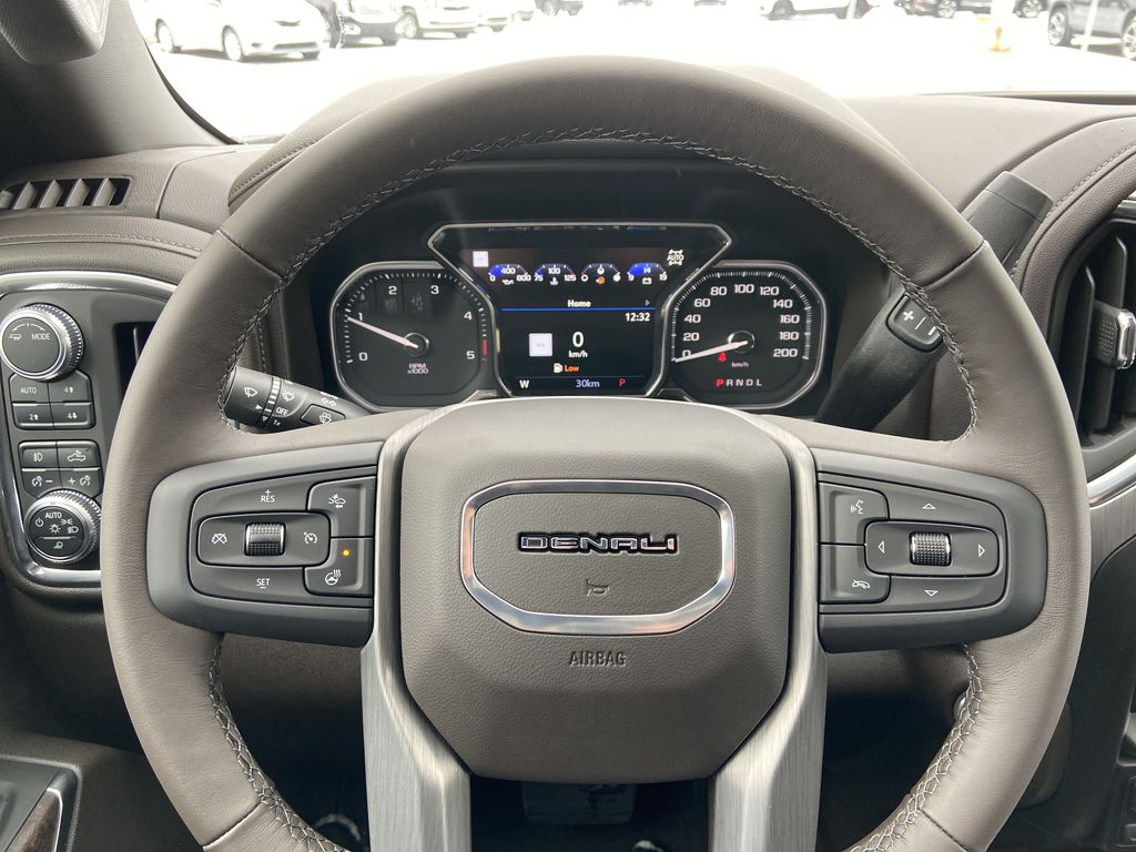 White[White Frost Tricoat] 2020 GMC Sierra 3500HD Denali Steering Wheel and Dash Photo in Calgary AB