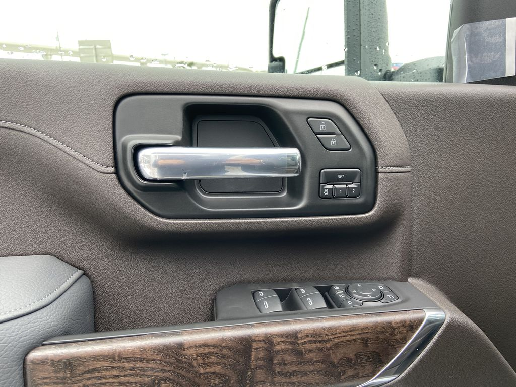 White[White Frost Tricoat] 2020 GMC Sierra 3500HD Denali  Driver's Side Door Controls Photo in Calgary AB