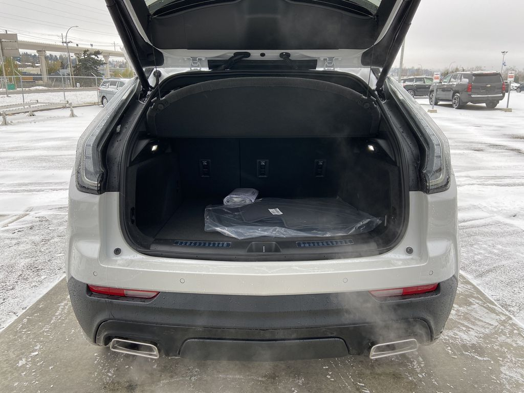 White[Crystal White Tricoat] 2021 Cadillac XT4 Sport Trunk / Cargo Area Photo in Calgary AB