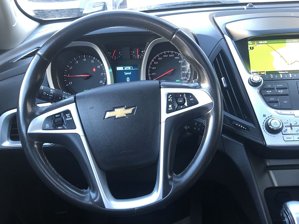 Gold[Champagne Silver Metallic] 2013 Chevrolet Equinox Strng Wheel: Frm Rear in Canmore AB