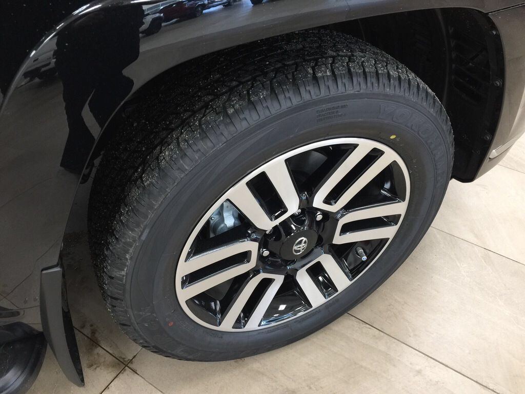 Black[Midnight Black Metallic] 2021 Toyota 4Runner Limited Right Front Rim and Tire Photo in Sherwood Park AB