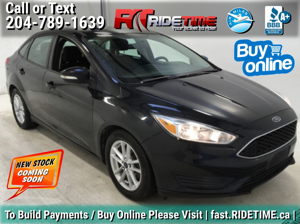 Black[Tuxedo Black Metallic] 2015 Ford Focus SE - Auto, Backup Camera, Alloy Wheels, Bluetooth