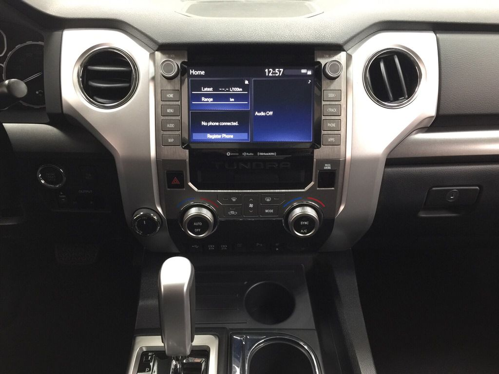 Silver[Silver Sky Metallic] 2021 Toyota Tundra TRD Off-Road Central Dash Options Photo in Sherwood Park AB