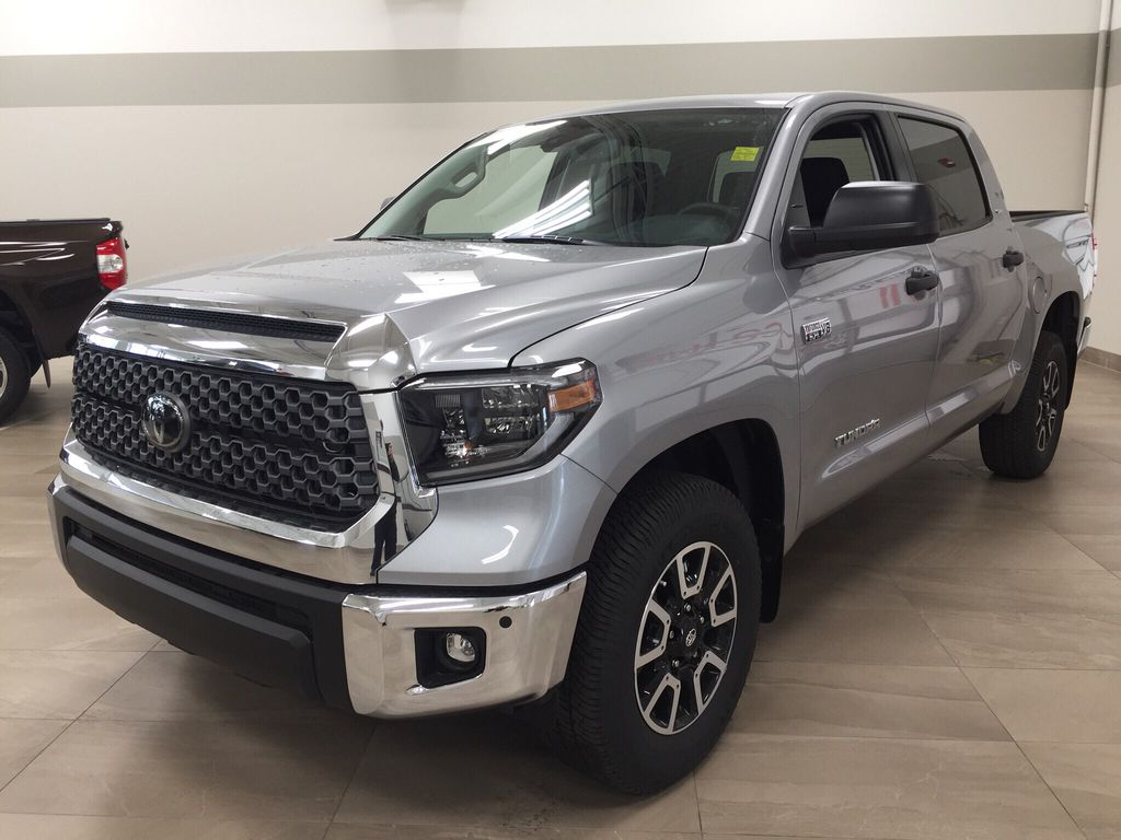 Silver[Silver Sky Metallic] 2021 Toyota Tundra TRD Off-Road Left Front Corner Photo in Sherwood Park AB