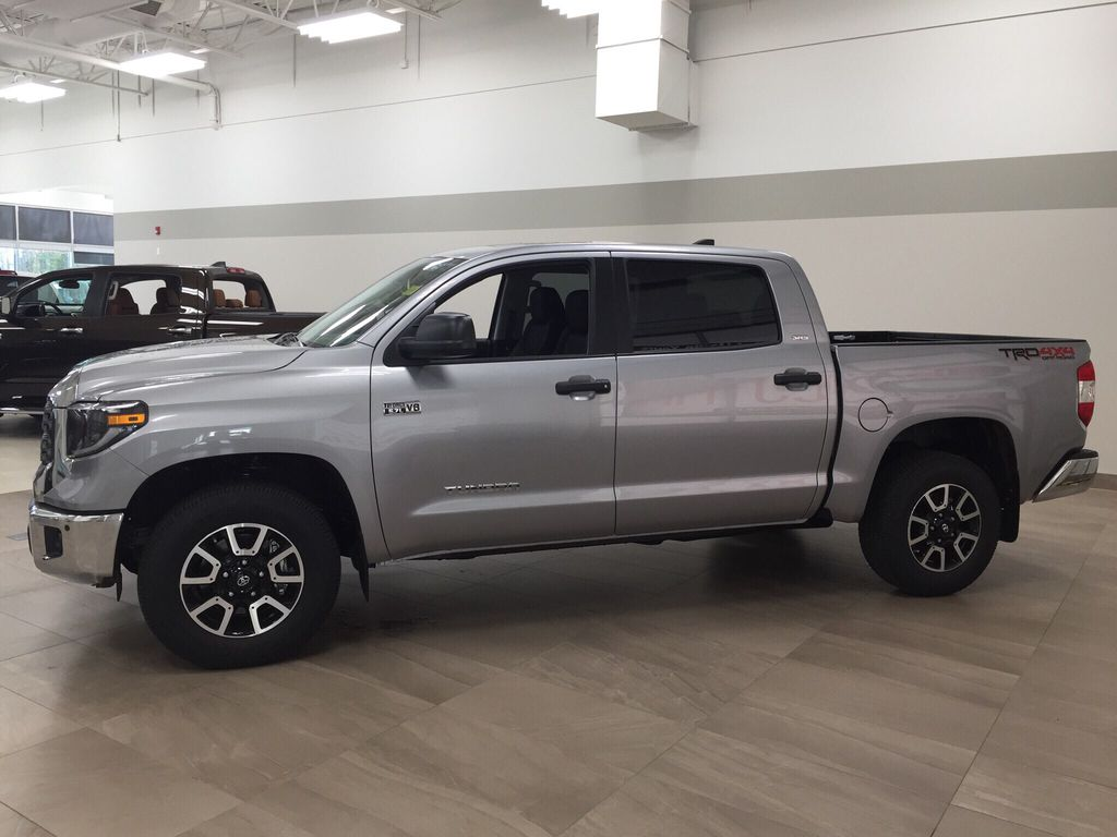 Silver[Silver Sky Metallic] 2021 Toyota Tundra TRD Off-Road Left Side Photo in Sherwood Park AB