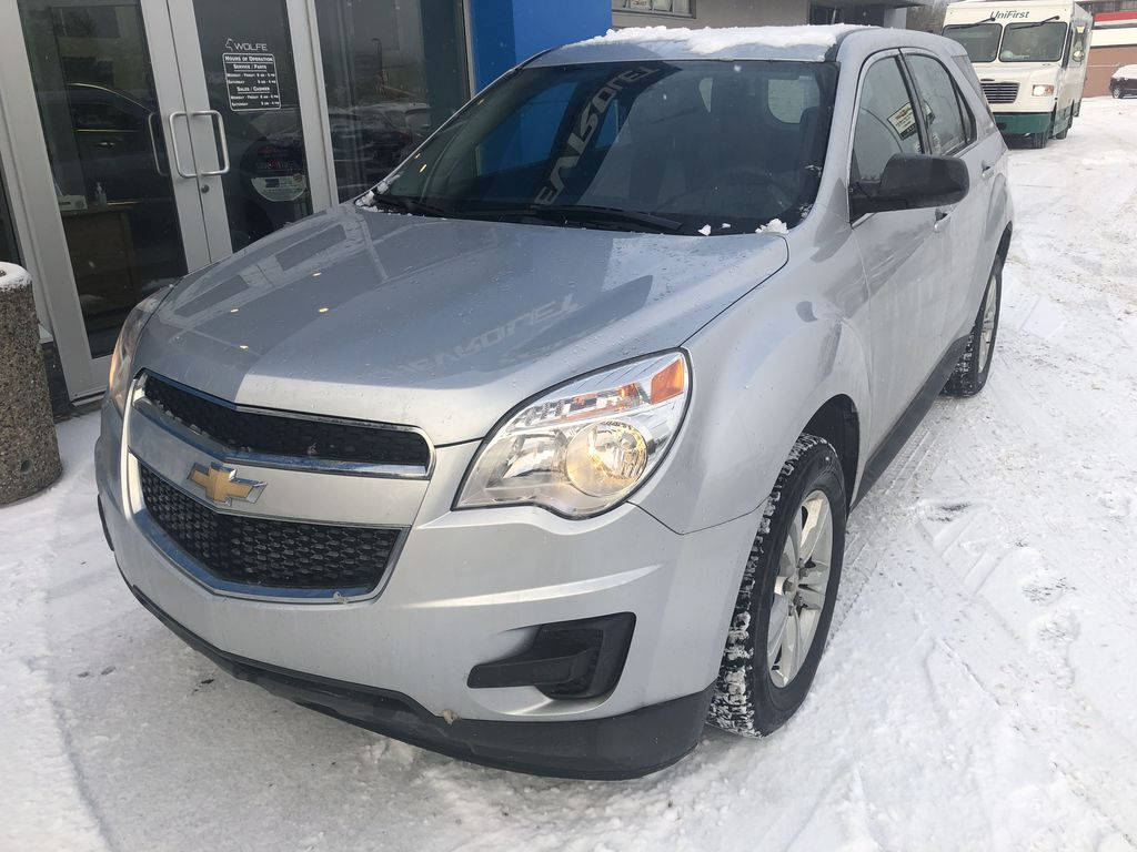 Silver[Silver Ice Metallic] 2012 Chevrolet Equinox LS Left Front Corner Photo in Canmore AB