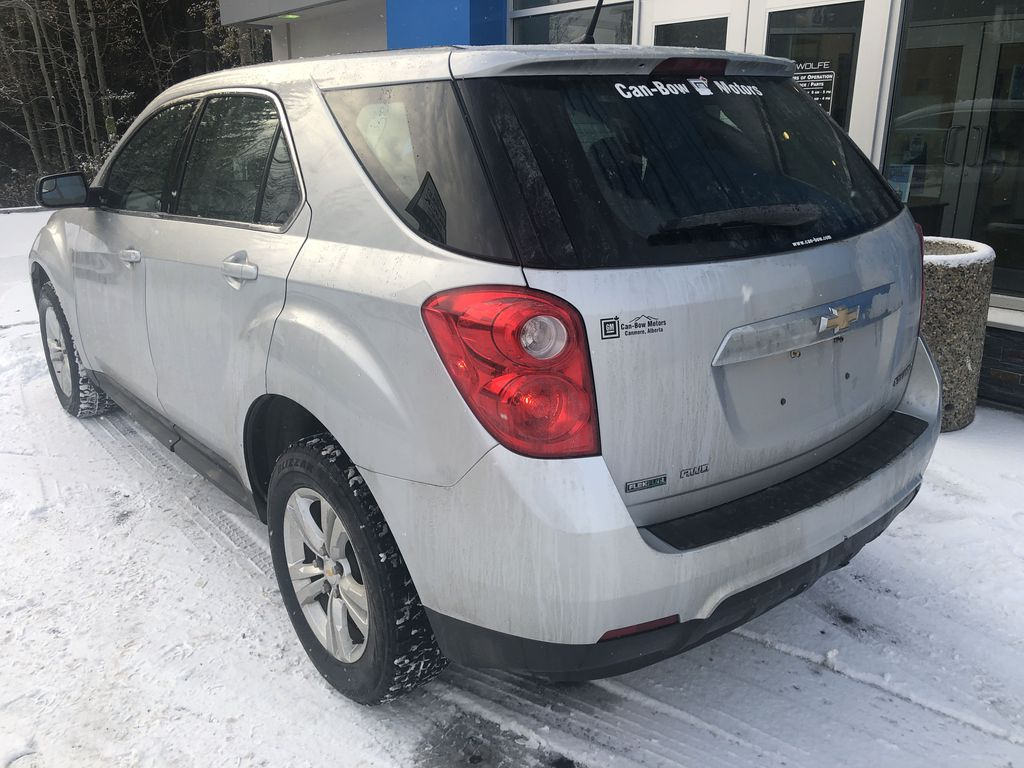 Silver[Silver Ice Metallic] 2012 Chevrolet Equinox LS Left Rear Corner Photo in Canmore AB