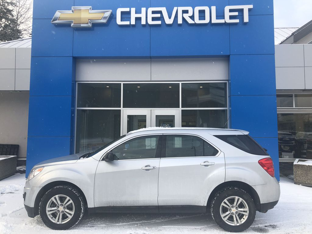 Silver[Silver Ice Metallic] 2012 Chevrolet Equinox LS Left Side Photo in Canmore AB
