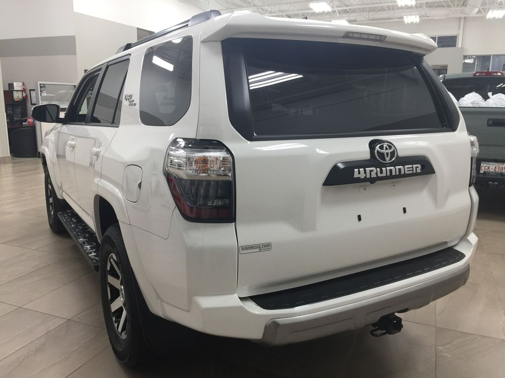White[Summit White] 2019 Toyota 4Runner TRD OFF-ROAD 4X4 LOW KMS Left Rear Corner Photo in Sherwood Park AB