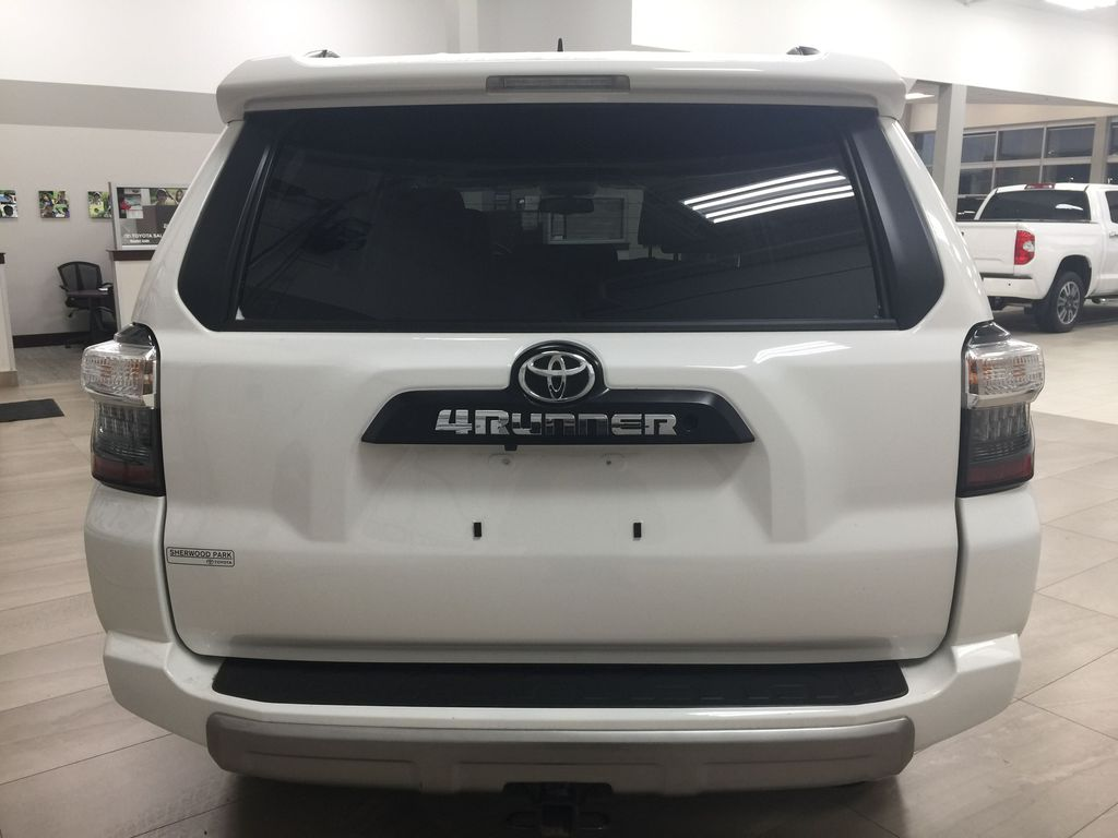 White[Summit White] 2019 Toyota 4Runner TRD OFF-ROAD 4X4 LOW KMS Rear of Vehicle Photo in Sherwood Park AB