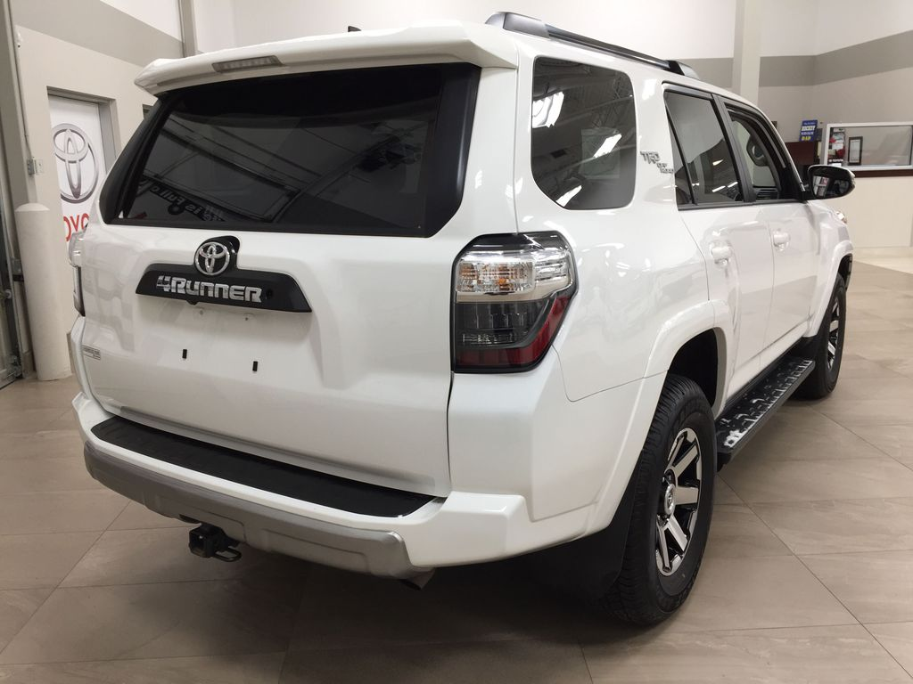 White[Summit White] 2019 Toyota 4Runner TRD OFF-ROAD 4X4 LOW KMS Right Rear Corner Photo in Sherwood Park AB