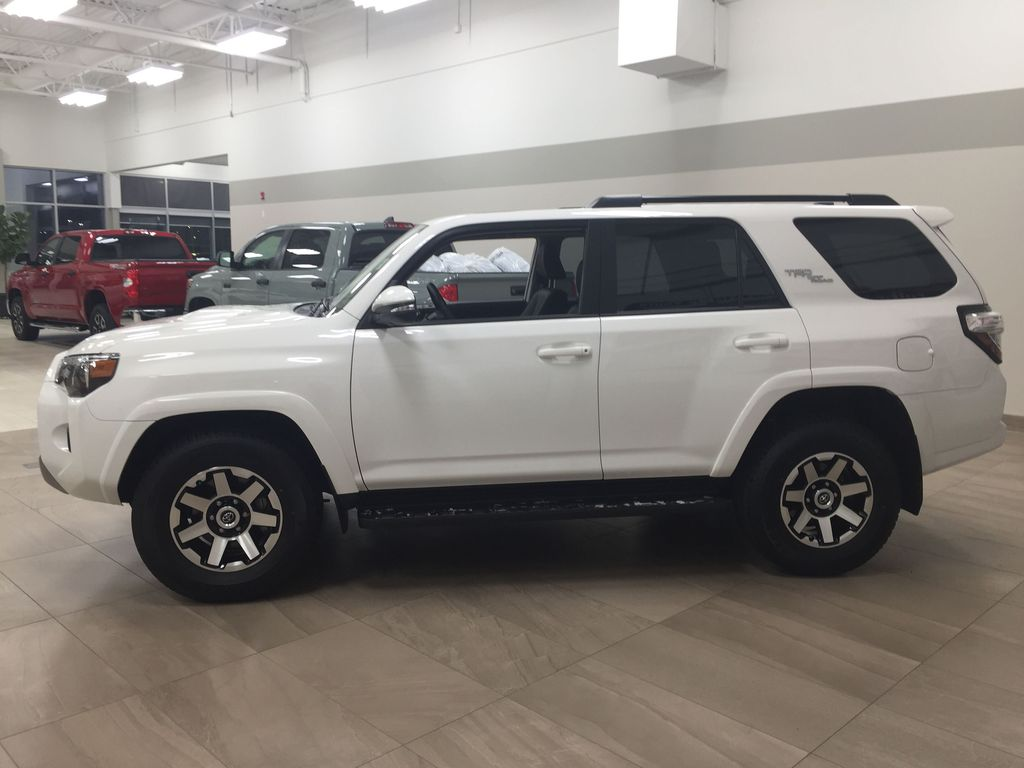 White[Summit White] 2019 Toyota 4Runner TRD OFF-ROAD 4X4 LOW KMS Left Side Photo in Sherwood Park AB