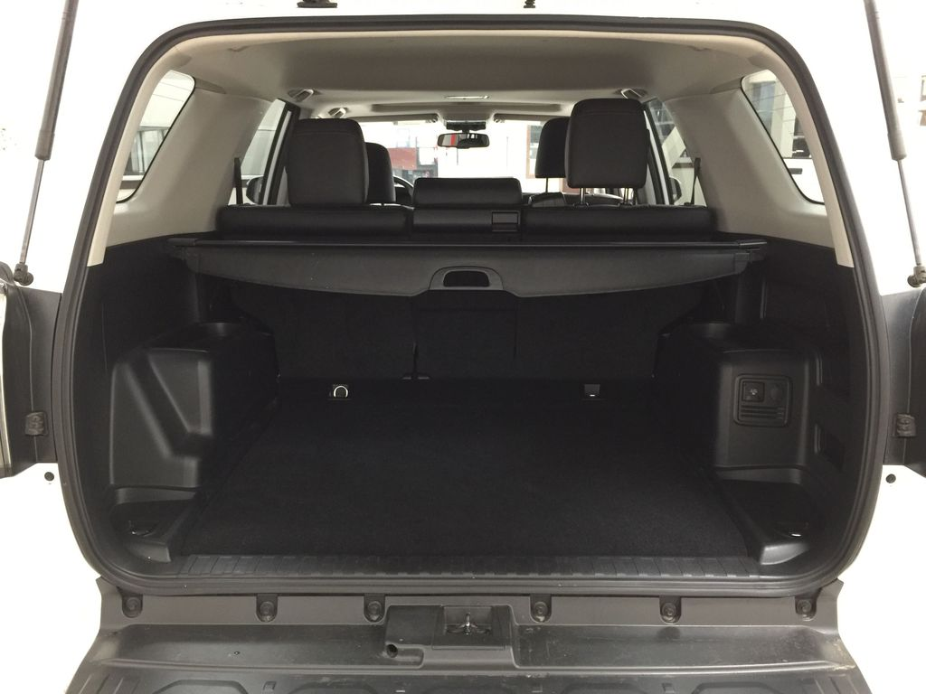 White[Summit White] 2019 Toyota 4Runner TRD OFF-ROAD 4X4 LOW KMS Cargo Area/Rear Seats Photo in Sherwood Park AB