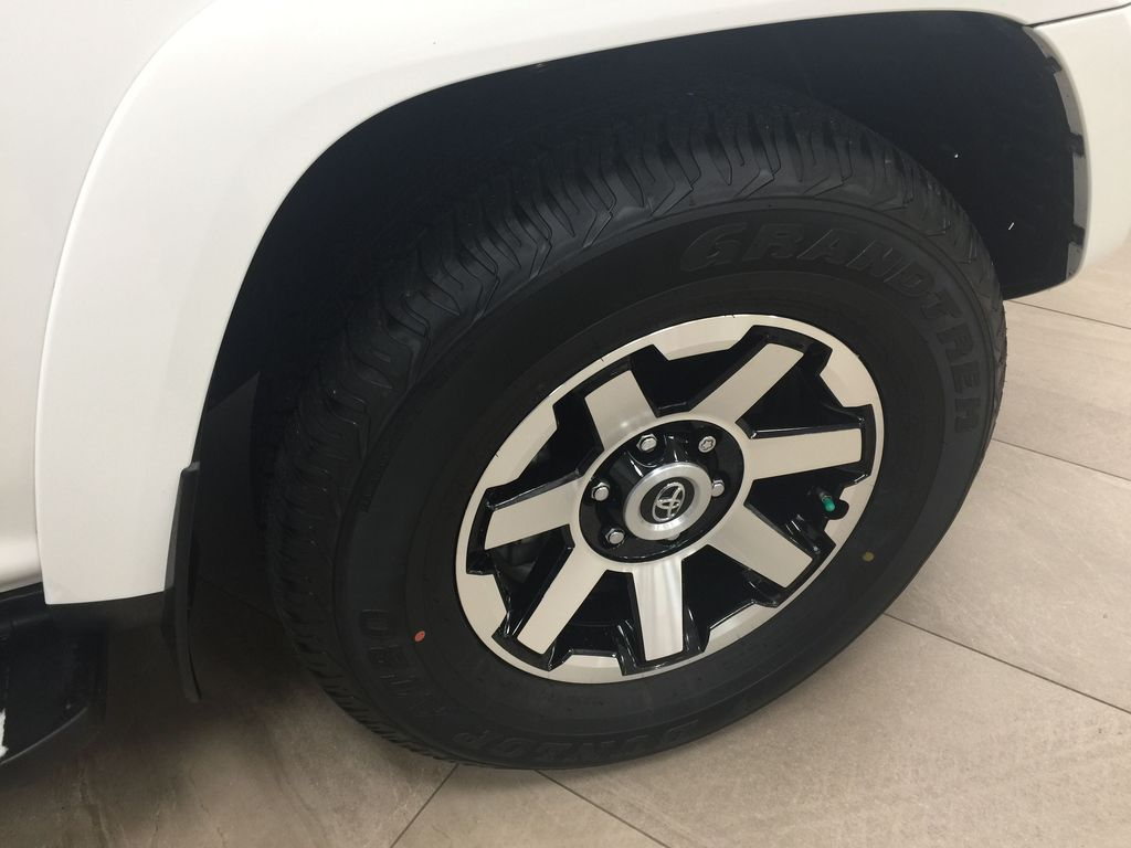 White[Summit White] 2019 Toyota 4Runner TRD OFF-ROAD 4X4 LOW KMS Right Front Rim and Tire Photo in Sherwood Park AB