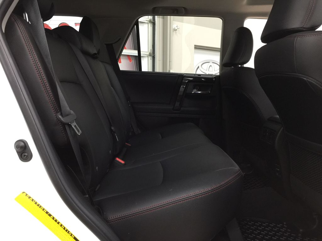 White[Summit White] 2019 Toyota 4Runner TRD OFF-ROAD 4X4 LOW KMS Right Side Rear Seat  Photo in Sherwood Park AB