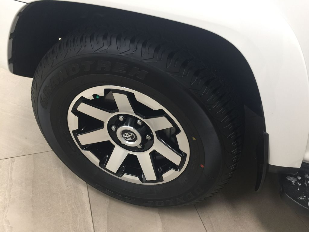 White[Summit White] 2019 Toyota 4Runner TRD OFF-ROAD 4X4 LOW KMS Left Front Rim and Tire Photo in Sherwood Park AB